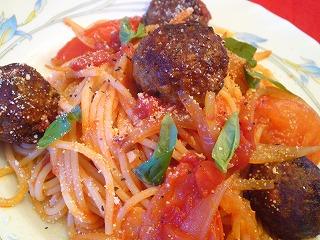 レシピ ミートボールのトマトパスタ