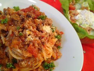 レシピ ミートソーススパゲティ