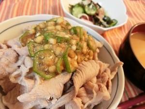 上沼恵美子のおしゃべりクッキングの夏野菜の豚丼