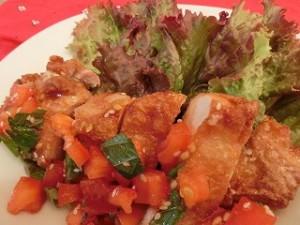 ノンストップ!の鶏のから揚げフレッシュトマトソース