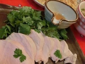 男子ごはんの大倉忠義さんの鶏パク(茹で鶏のパクチー和え)&ゴータマのプースー(かきたまスープ)