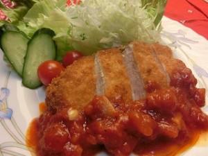 ZIP!速水もこみちのMOCO'Sキッチンのもこみち流 鶏むね肉のカツ ~トマトソースがけ~