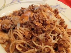 キューピー3分クッキングのミートソーススパゲティ
