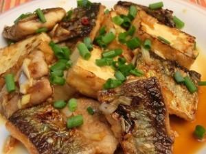ノンストップ!のサンマと豆腐の中華ネギソース