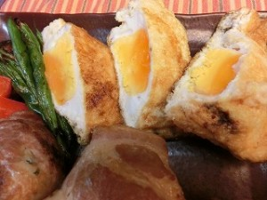 NHKきょうの料理ビギナーズの油揚げの卵詰め焼き