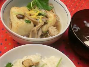 NHKあさイチの揚げ出し豆腐のきのこあんかけ