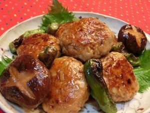 世界にひとつ ミラクルレシピの照り焼きハンバーグ風鶏つくね