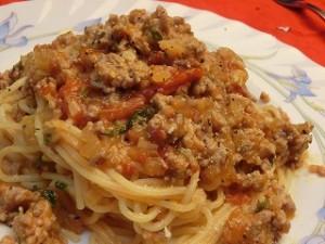 いっぷく!まんぷくキッチンのミートソーススパゲティー