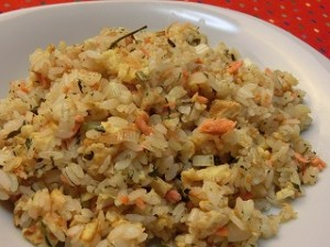 ノンストップ!の鮭と卵の茶ー飯(チャーハン)