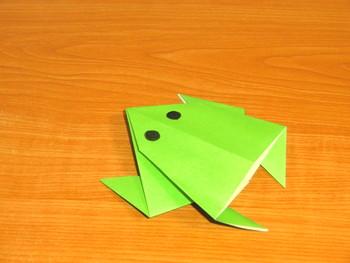 簡単 折り紙 : 折り紙 カエル 作り方 : art-fun.net