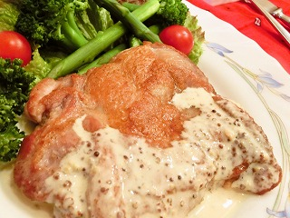 レシピ チキンのマスタードソース